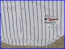 STEPHEN DREW #33 size 44 2014 Yankees Game Jersey HOME PINSTRIPE STEINER MLB