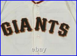 STRATTON size 48 #49 2018 SAN FRANCISCO GIANTS GAME USED jersey HOME CREAM MLB