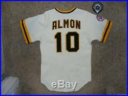 San Diego Padres #10 Bill Almon game issued Jersey, 1976 NL Centennial Patch
