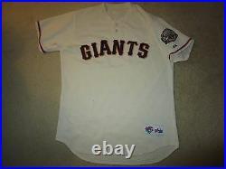 San Francisco Giants #31 MLB Game Worn Used 2000 Majestic Baseball Jersey 46