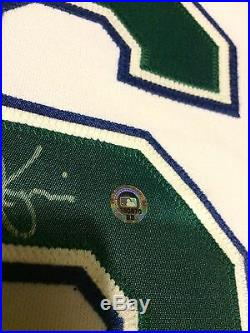 Scott Kazmir Tampa Bay Devil Rays Game Used & Signed Home Jersey Vest- MEARS A10