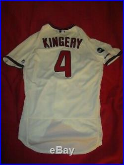 Scott Kingery Phillies 2019 GAME USED AUTOGRAPHED SIGNED HOME ALTERNATE JERSEY
