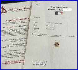 St. Louis Cardinals Brad Miller Team Issued Jersey With MLB Authentication