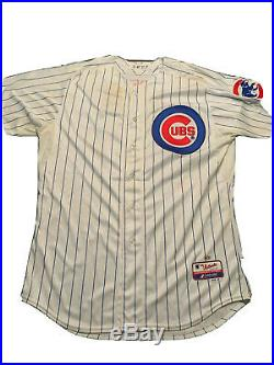 Starlin Castro Chicago Cubs Game Used / Worn Jersey MLB Auth Photomatched