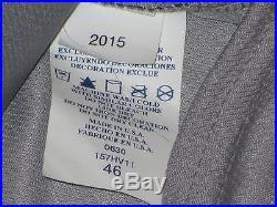 Stephen Drew 2015 Yankees Game Jersey Road SZ 46 Berra postseason patch STEINER