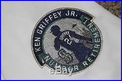 Taijuan Walker Ken Griffey Jr. Number Retirement Game Used Jersey Mariners 2016