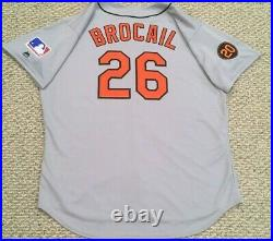 TBTC 1969 size 54 #26 BROCAIL BALTIMORE ORIOLES GAME USED JERSEY MLB HOLOGRAM