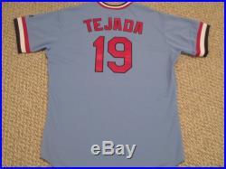TBTC Ruben Tejada SZ 46 #19 2016 St. Louis Cardinals Road Blue game jersey MLB
