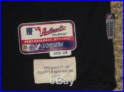 Taijuan Walker size 50 2015 Seattle Mariners game used jersey Road Navy MLB HOLO