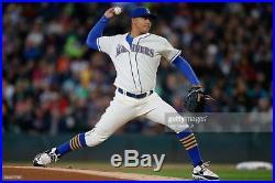 Taijuan Walker size 50 #44 2016 Seattle Mariners Home Cream game jersey MLB HOLO