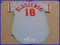 Ted Kluszewski Game Worn Jersey 1980 Cincinnati Reds Mears A10