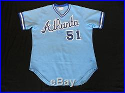 Terry Forster 1985 Atlanta Braves game used jersey autographed