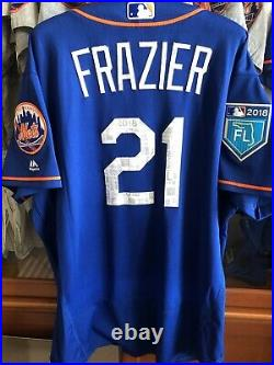 Todd Frazier Game Used 2018 Spring Training Jersey NY Mets