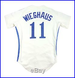 Tom Wieghaus 1982 Montreal Expos Game Used Worn Home Jersey