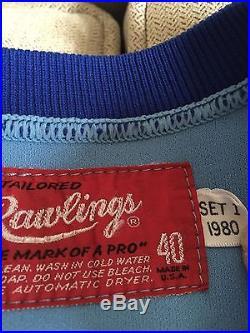 Toronto Blue Jays 1980 Powder Blue Game Worn Jersey Steve Braun Number 11 Rare
