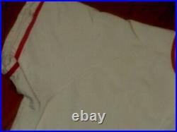 USED 1960s KING O'SHEA DURENE CINCINNATI REDS VINTAGE BASEBALL GAME JERSEY 1950s