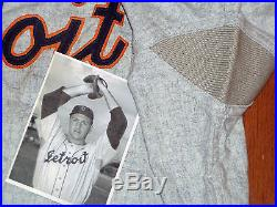 VINTAGE 1960s DETROIT TIGERS GAME FLANNEL JERSEY ROCKY COLAVITO KUENN USED
