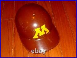 VINTAGE 1970s MINNESOTA GOPHERS ABC FIBERGLASS GAME USED BATTING HELMET BASEBALL
