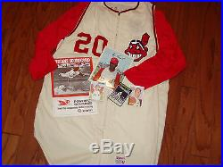 VINTAGE GAME USED 1960s CLEVELAND INDIANS FLANNEL JERSEY