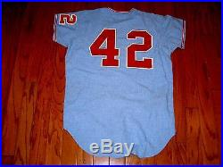 VINTAGE GAME USED 1971 CHICAGO WHITE SOX FLANNEL JERSEY BART JOHNSON 1970s WORN