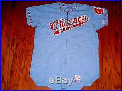 VINTAGE GAME USED 1971 CHICAGO WHITE SOX FLANNEL JERSEY RICH MOLONEY 1970s WORN