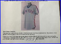 VINTAGE NEW YORK METS GAME WORN 1989 Blaine Beatty Jersey RARE SYLE WITH LOA