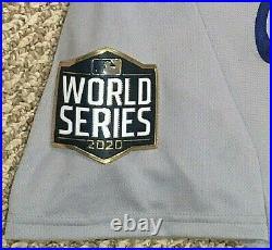 VIZCAINO size 46 2020 Los Angeles Dodgers WORLD SERIES game jersey ALT MLB HOLO