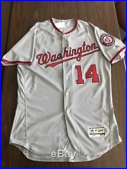 promo code c0062 9f698 Victor Robles Game Used 2017 Washington Nationals Road ...