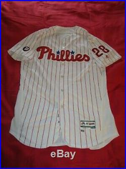 Vince Velasquez Phillies 2017 GAME USED AUTOGRAPHED SIGNED HOME JERSEY