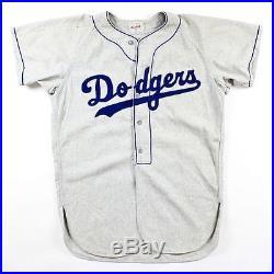 Vintage 1950s Brooklyn DODGERS Game Worn Flannel Baseball Jersey #52 Herb Olsen