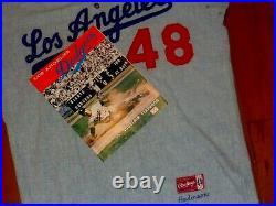 Vintage 1963 Game Used Los Angeles Dodgers Flannel Baseball Jersey Pants Angels