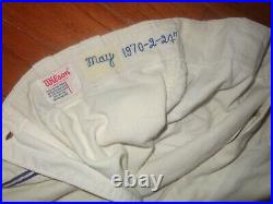 Vintage 1970 Game Used Carlos May Chicago White Sox Flannel Baseball Pant Jersey