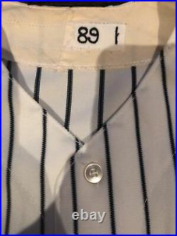 Vintage 1989 NEW YORK YANKEES GAME WORN Ken Phelps JERSEY / Nice Game Wear / Loa