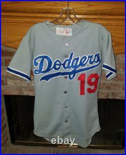 Vintage Satz Los Angeles Dodgers Game Worn Game Used Away MLB Jersey