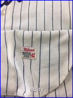 Vintage Tito Francona 1969 Authentic Game Worn Braves Flannel Jersey