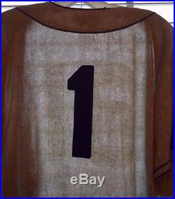 Vtg 50s BROOKLYN DODGERS MacGregor Flannel Game worn used baseball jersey #16