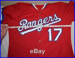 Vtg 80s 1984 Texas Rangers Game Team Issue Red alternate Mickey Rivers jersey 17