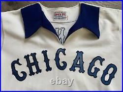Vtg Chicago White Sox Game Worn Jersey Art Kusnyer MLB Used 80 Softball Style