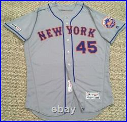WHEELER size 48 #45 2019 New York Mets game jersey issued road gray MLB HOLOGRAM