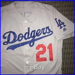 Walker Buehler Los Angeles Dodgers Game Used Worn Jersey 2018 Rookie Season MLB