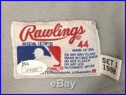 Wally Joyner Los Angeles Angels Autographed Game Used Jersey Rawlings JSA