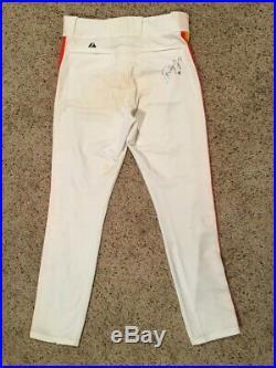 Wandy Rodriguez Houston Astros TBTC 1986 Game Used Rainbow Uniform Signed