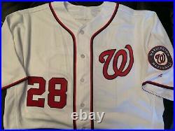 Washington Nationals jayson werth 2016 game used/worn opening day jersey