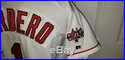 Wil Cordero 1999 Indians Game Used Autograph Jersey Signed To Carlos Baerga Mlb