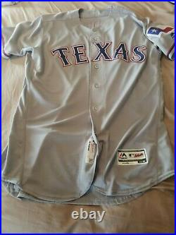 Willie Calhoun 2018 Texas Rangers game used/issued jersey Road Gray size 46