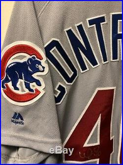 Willson Contreras Game Used Signed Jersey MLB Authentication Hologram BAS COA