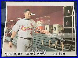 Yadier Molina'10 St. Louis Cardinals Game Used Away Jersey Cardinals Care